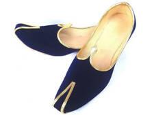 F-58 Blue Velvet Royal Look Traditinol Khussa Shoe/Juti/Mojari MENS Usa Size 9