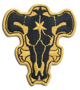 **Legit** Black Clover Anime Black Bulls Emblem Iron On Authentic Patch #44396