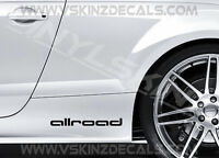 2x Audi Allroad Logo Premium Cast Skirt Door Decals Stickers S-line Quattro RS