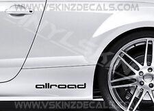 2x Audi Allroad Premium Cast Skirt Door Decals Stickers S-line Quattro A4 A6 RS