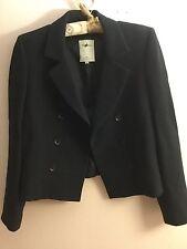 VERTIGO Pour La Ville Paris wool black blazer size S Made in France
