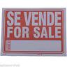 "2 Pack - Se Vende For Sale 9""x12"" Business Office Car Truck Home Garage Sign"