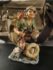 Figurine Céramique- Capitaine au Radeau