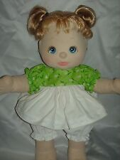 NEW! Quality Made Tulip Green 1 Dress Outfit Set For Mattel My Child Doll By OTM