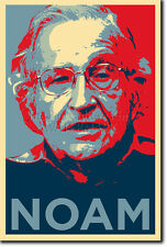 NOAM CHOMSKY ART PHOTO PRINT POSTER GIFT (BARACK OBAMA HOPE PARODY)