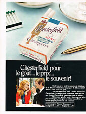 PUBLICITE ADVERTISING 024   1968   CHESTERFIELD   cigarettes