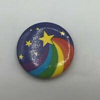"Shooting Star Rainbow 1-1/4"" Pin Pinback Button Achievement Reading Rainbow? M3"