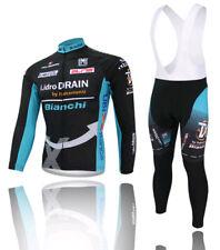 Mens Cycling Jersey Long Sleeve Bib Pants Kits Road Bike Shirt Set Cycle Jacket