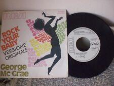 "GEORGE Mc CRAE - ROCK YOUR BABY - PROMO 45 GIRI 7"" ITALY"