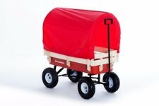 Pull along Retrowagen + Canopy + Pad - Retro Wagon Festival trolley ride on kids