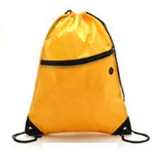 Unisex Drawstring Pouch Beach Bag School Sport Travel Swim Gym Backpack Rucksack