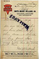 1922 billhead GOBER TEXAS George McCullough BONHAM HARDWARE STORE Keen Kutter
