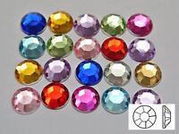 "200 Mixed Color Acrylic Round Flatback Rhinestone Gems 10mm(3/8"")"