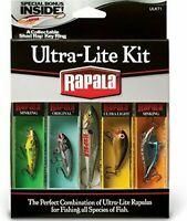 Rapala UltraLite Kit Fishing Lures with Collectable Shad Rap Key Ring-Great Gift
