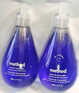 2 Liquid Hand Soap Method French Lavender 12 FL OZ Français Tear Drop Bottle