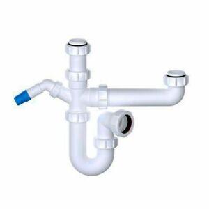 VIVA Kitchen Sink 1.5 Bowl Waste Trap Kit + Appliance Discharge Conn WTBNH01