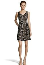 NWT Women Hayden Shealth Lace Cocktail Black/nude Mesh floral Dress size M $179