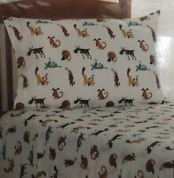 Flannel 3-Piece Twin Sheet Set  Cute Puppy Dog Extra Soft 100% Cotton