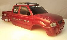 RC Crawler Body Nissan Frontier Scale 4 Door Hard Plastic Tyco Red Fast Ship