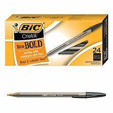 Bic Cristal Xtra Bold Ballpoint Pen Point 16mm 24 Count Black