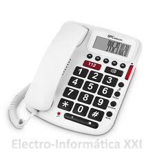 Telefono Sobremesa Manos Libres Teclas Grandes Personas Mayores 112 SPC 3293B