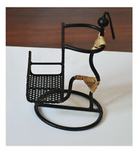 Wrought Iron Black Color Lady Figure Mobile Phone Holder from Craft Options