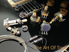 TAOT Wiring Kit - LES PAUL® - LONG Shaft -PIO - CTS 450G 500K POTS, K40Y-9 Caps