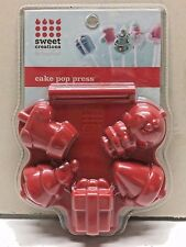 Sweet Creations Christmas Cake Pop Press Mold, Red New In Sealed Package