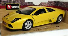 Burago 1/18 Scale -3316 Lamborghini Murcielago Metallic Yellow Diecast Model Car