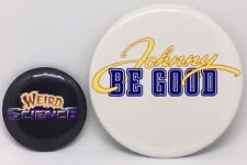 Pin Pinback Button Lot Weird Science Johnny Be Good Official