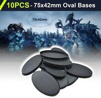 10 Pcs 75x42m OVAL BASES - Wargame Plastic Base Model For Gamaing Miniatures