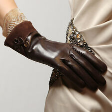 Womens Genuine Nappa Leather Lined Drive Dress Gloves Many Color On Sale E11