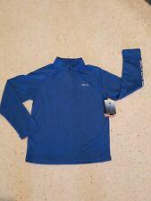 Silver Bait Blue Long Sleeve Pullover 1/4 Zip UPF 50+ Fishing Boys 10/12