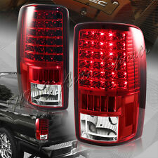 For 2000-2006 Chevy Tahoe Suburban 1500 2500 LED Red/Clear Rear Tail Lights Lamp