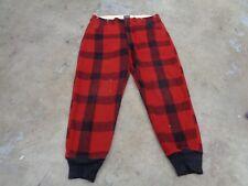 Vtg Malone Adirondack Cheesemans Pants 36X30 Men 40S 50S Western Wool Buffalo