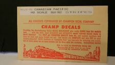 Champ HO Decal Set# S-41 Canadian Pacific Stripes, Dulux Gold, NOS