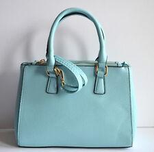 soft baby blue women's designer look buckle fashion convertible handbag purse