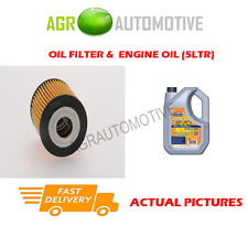 PETROL OIL FILTER + LL 5W30 ENGINE OIL FOR SMART ROADSTER 0.7 82 BHP 2004-04
