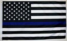 Police Thin Blue Line Flag 3' x 5' Indoor Outdoor Deluxe Banner