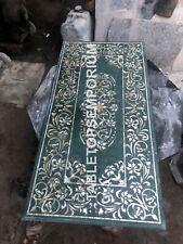 4'x2' Green Marble Dining Hallway Table Top Precious Inlay Arts Home Decor E1145