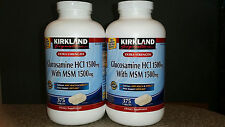 2 x 375 ct Kirkland Extra Strength Glucosamine with HCI MSM 750 total joint care