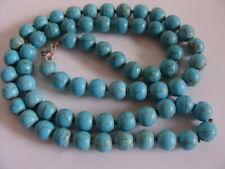 Magnifique ancien collier perles turquoise argent necklace turquoise