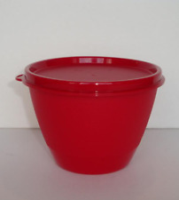 One New Tupperware Refrigerator Bowl & Liquid Tight Seal Red BPA Free 330ml New