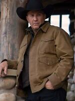 John Dutton Yellowstone Season 2 Brown Cotton Jacket For Mens