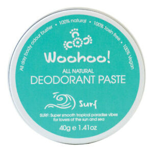 Woohoo Body All Natural Deodorant Paste - Surf 60g