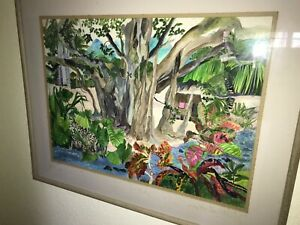 Eileen Seitz Original Watercolor Spectacular 39x31