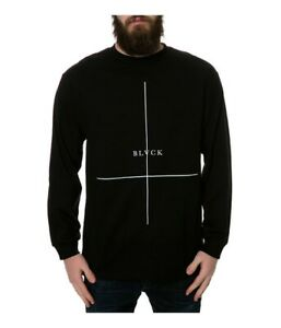 Black Scale Mens The Crossed Ls Graphic T-Shirt