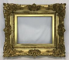 Antique Early 20th C Baroque Barbizon Gold Gilt Ornate Frame 14 x 18 Opening