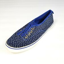 Gap Womens Blue Fabric Sneakers Tennis Shoes Size 7 Lace Up White Polka Dots 7M