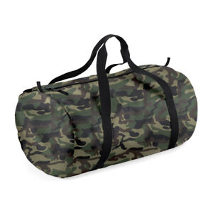 BagBase Barrel Bag Holdall Duffle Foldable Bag Holiday Sports Gym Handheld Bag